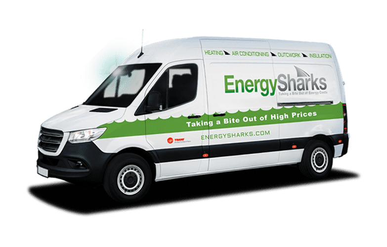 Energy Sharks Heating & Air truck